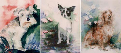Evelyn M watercolour pet portraits