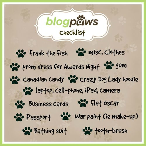 Blogpaws checklist