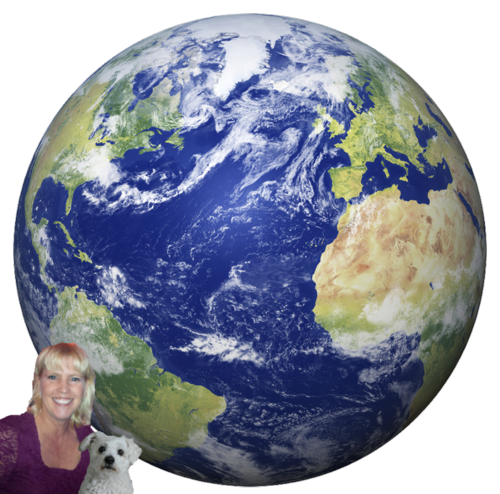 Earth with oscar