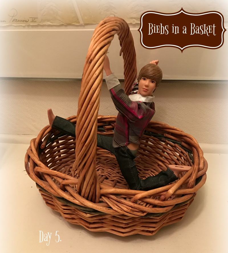 Biebs in the basket