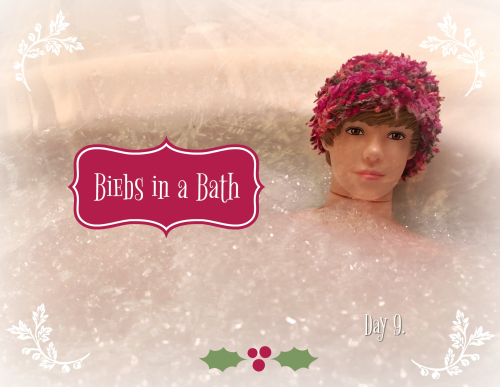 Biebs in a bath