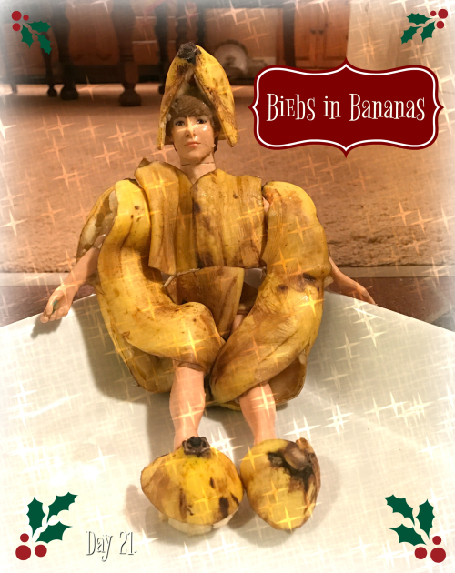 Biebs in bananas
