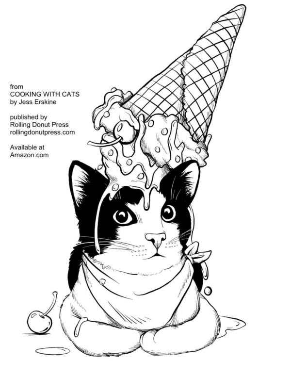 COOKING WITH CATS Coloring Book Giveaway The Pet Blog