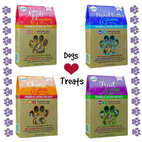 Lucky 4 dogs love treats