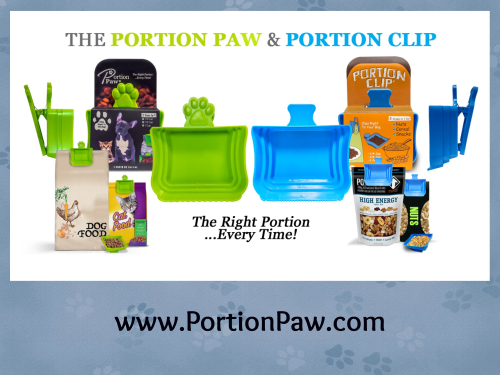 Portion paw banner