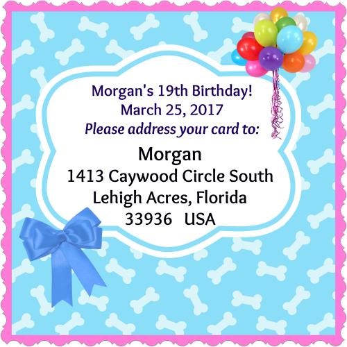 Morgans birthday