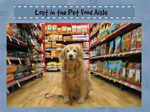 Lost in pet food aisle
