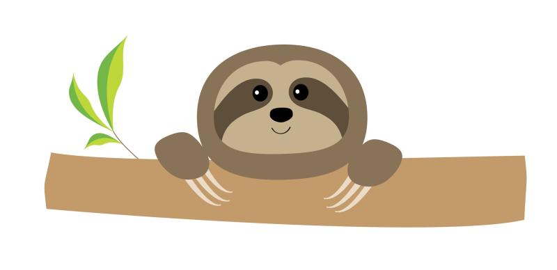 Sloth trimmed